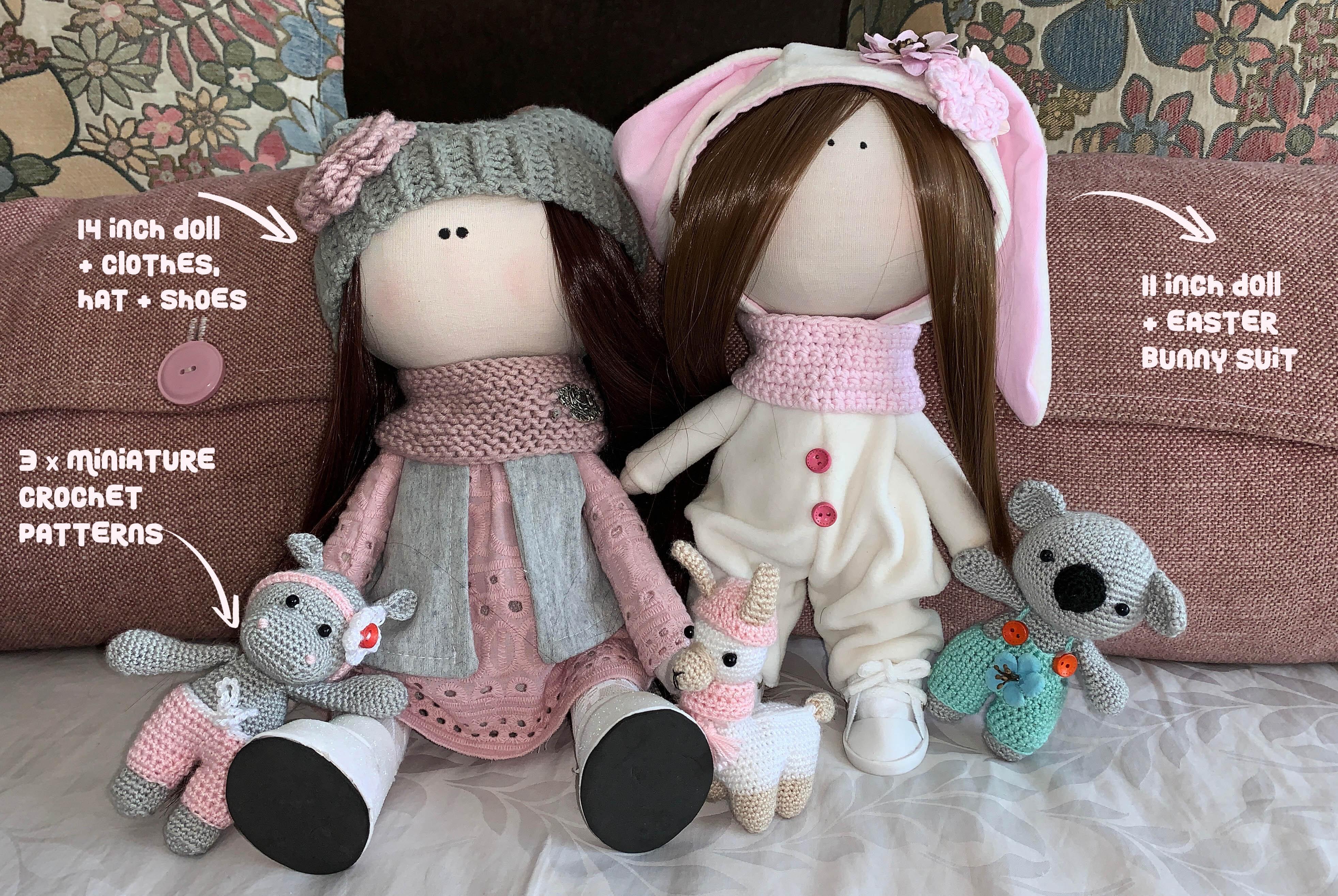 How to Attach Hair to a Crochet Doll - thefriendlyredfox.com | 2630x3927